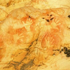 Aboriginal cave paintings in the Grampians