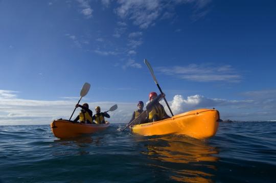 Sea kayaking along the Great Ocean Road